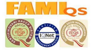 SERTIFIKOVANI SMO ZA ISO 22000 i FAMI-QS!